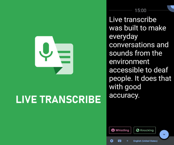 Use Live Transcribe App to transcribe voice recording to text
