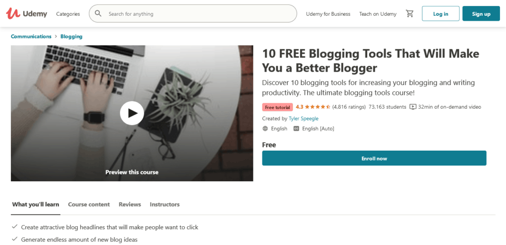 Free Blogging Tutorial - 10 FREE Blogging Tools That Will Make You a Better Blogger