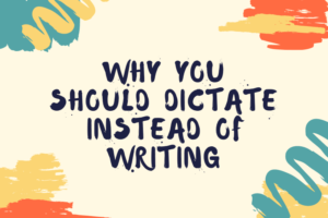 Dictate posts instead of writing